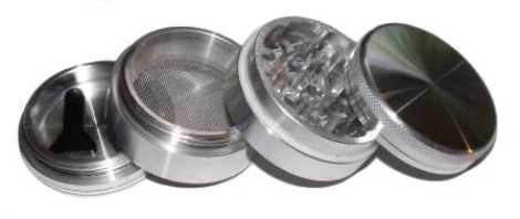Spliff Grinder 50mm 4 Part Silver